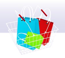 Free Shopping Chart And Bags Royalty Free Stock Image - 15265416