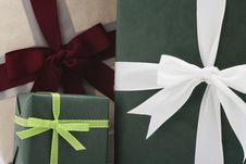 Free Three Gifts From The Front Royalty Free Stock Photos - 15265788