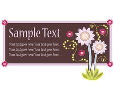 Free Floral Card Design Royalty Free Stock Photo - 15265795