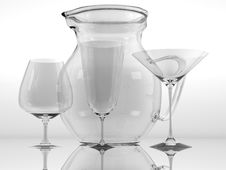Free Pure Glass Collection Royalty Free Stock Photo - 15265845