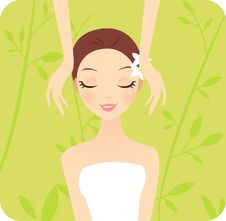 Spa Girl Royalty Free Stock Photos