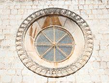 Beautiful Historical Window In Mediterranean Style Stock Image
