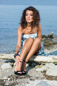 Free Woman Near The Sea Stock Photo - 15267730