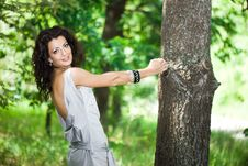 Free Girl In The Garden With Trees Stock Photos - 15267923