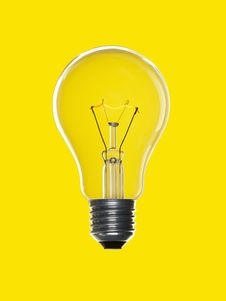 Free Bulb Light Over Yellow Stock Photos - 15267953