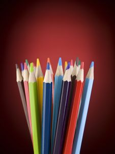 Free Color Pencils Royalty Free Stock Photography - 15268247