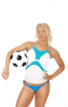 Free Female Player Holding Ball Royalty Free Stock Photo - 15269375