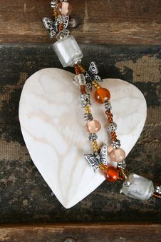 Free Heart And Beads Stock Image - 15269791