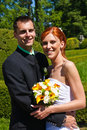 Free Young Bride And Groom Royalty Free Stock Photography - 15271147