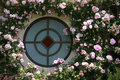 Free Round Window With Flowers Royalty Free Stock Images - 15271489