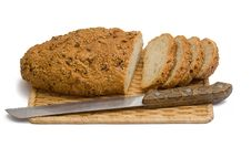 Free Bread With Knife Royalty Free Stock Photo - 15270015
