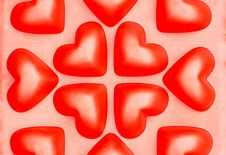 Free Red 3D Hearts Royalty Free Stock Photo - 15270125