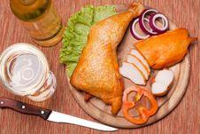 Smoked Chicken Stock Image