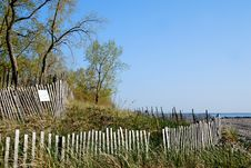 Free Beach Fenceb Royalty Free Stock Photography - 15270597