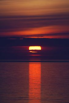 Sunset Red0541b Royalty Free Stock Photos