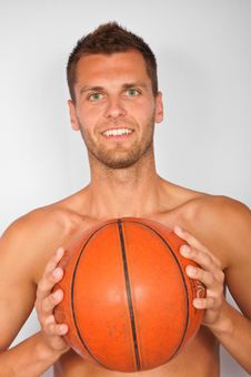 Young Man With Ball Royalty Free Stock Photo