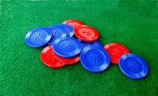 Free Poker Chips And Table Stock Images - 15270904
