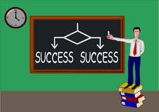Free Man With Blackboard And The Same Concept: Success Stock Photography - 15271002