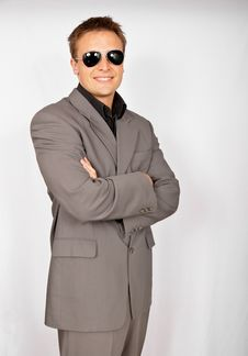 Free Businessman In Sunglasses Royalty Free Stock Images - 15271059
