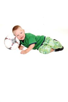 Free Little Boy With Football. Royalty Free Stock Photo - 15271175