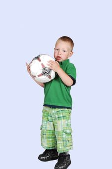 Free Little Boy With Football. Stock Photo - 15271180