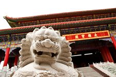 Free Lion In The Chinese Temple Stock Images - 15272124