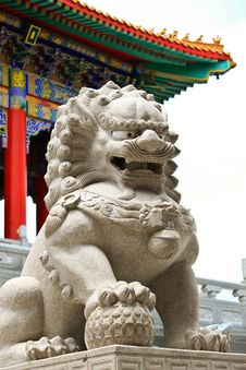 Free Lion In The Chinese Temple Stock Photography - 15272152