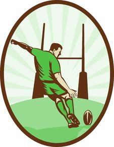 Free Rugby Player Kicking Ball Stock Photo - 15272190