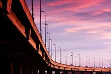 Free Freeway Under Sunset Royalty Free Stock Photo - 15272265