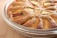 Apricot And Peach Pie Stock Image
