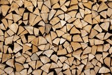 Free Stack Of Firewood Royalty Free Stock Image - 15273346