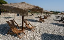 Free Longue On Adriatic Beach Stock Images - 15273524