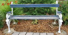 Free Blue And White Park Bench Stock Photos - 15273763
