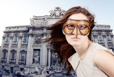 Free Beautiful Girl With The Venetian Mask Royalty Free Stock Photography - 15274477