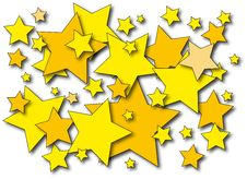 Free Yellow Stars Royalty Free Stock Images - 15274959