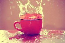 Free Cup Water Splash Royalty Free Stock Image - 15275586