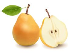 Free Two Ripe Pears. Stock Image - 15275711