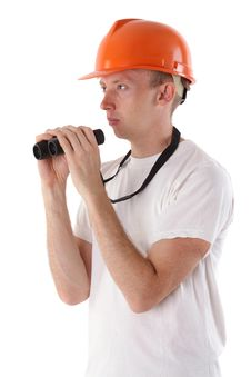 Free Worker With Binoculars Stock Images - 15276184