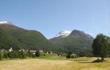 Free Village Of Loen On Nordfjord Stock Photos - 15276663