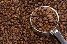Free Coffee Beans And Pot Stock Images - 15276854