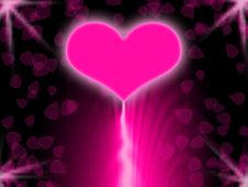 Free Pink Glowing Heart Stock Photo - 15276870