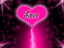 Free Pink Heart With Black Background Stock Photo - 15276880