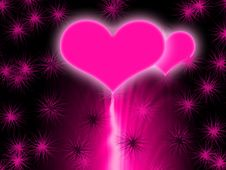 Free Pink Glowing Hearts Stock Photo - 15276900