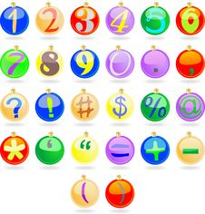Free New Year Balls With Numbers Stock Photo - 15277930