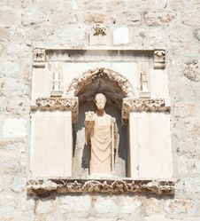 St Blasius (Sv. Vlaho) The Protector Of Dubrovnik Royalty Free Stock Photo