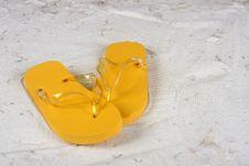 Free Flip Flops On The Beach - Horizontal Stock Photography - 15279182
