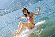 Free Girl On Surfboard Stock Photo - 15279660