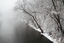 Free River In Snow Storm Royalty Free Stock Photo - 15279805