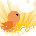 Free Baby Bird Card Royalty Free Stock Photography - 15283907