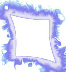 Blue Abstract Frame Background Stock Image